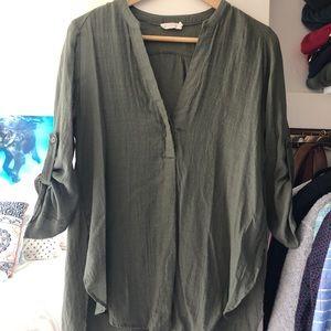 Lush army green tunic